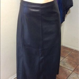 Maxi Faux  Leather Skirt